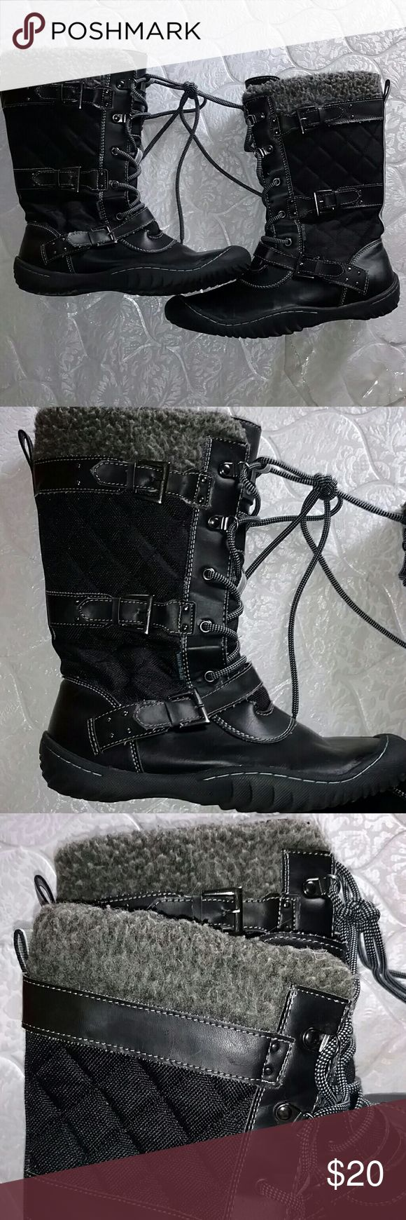 Water-resistant Jeep boots GREAT DEAL Good used condition size 8 1/2  Water ready, Jeep engineered traction sole, rain lace up boots.  Price for quick sale sacnicoca liminia Shoes Lace Up Boots