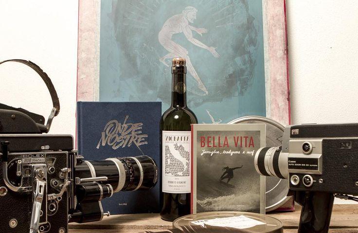 Share the stoke with a glass of wine. #ondenostre #bellavita #ziobaffawine #christmas #surfingitaly