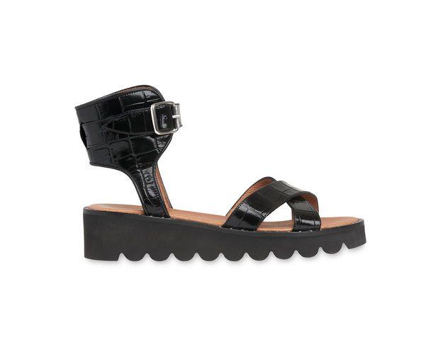 Black Kingly Studded Sandal, in Black on Whistles