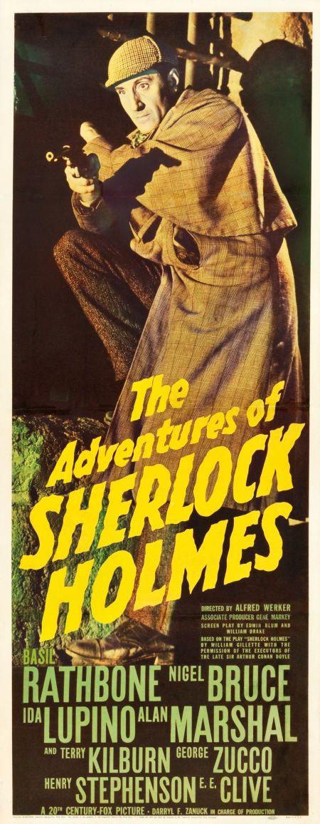 The Adventures of Sherlock Holmes (20th Century Fox, 1939). Basil #rathbone