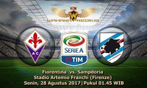 Wahanaprediksi.com - Partai lanjutan pertandingan kedua Liga Serie A Italia pada kesempatan kali ini akan mempertemukan sang tuan rumah Fiorentina yang akan mengundang Sampdoria dalam laga musim panas kali ini. pertandingan tersebut akan berlangsung di Stadio Artemio Franchi (Firenze) Senin, 28 Agustus 2017 pukul 01.45 WIB dini hari.