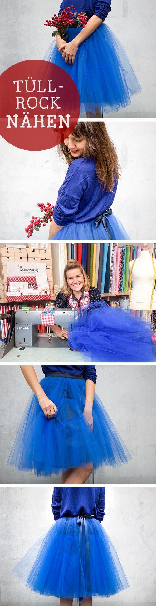 VIDEO: Traumhafte DIY-Anleitung für einen genähten Tüllrock / diy sewing tutorial: make your own tulle skirt, crafting via DaWanda.com