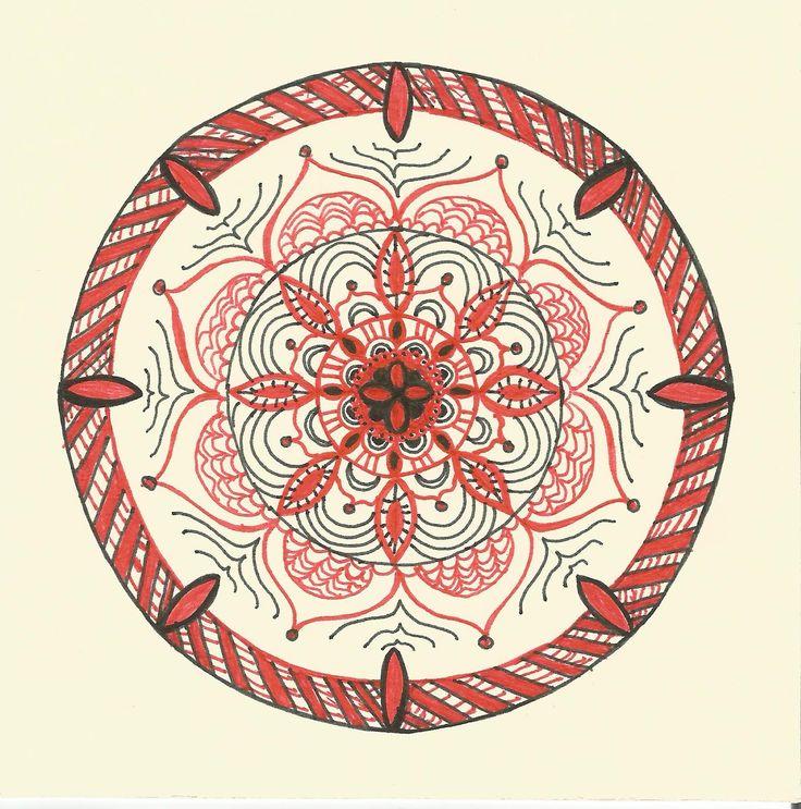 Přání - červená mandala