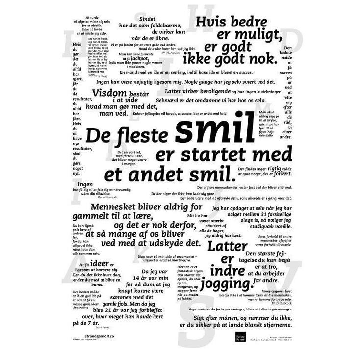 Skab smil i hverdagen med SMIL plakaten. Køb den på www.futurefactor.dk