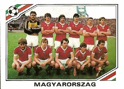 Hungary team sticker for the 1986 World Cup Finals.