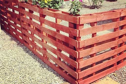 Wood Pallets Fence Yards