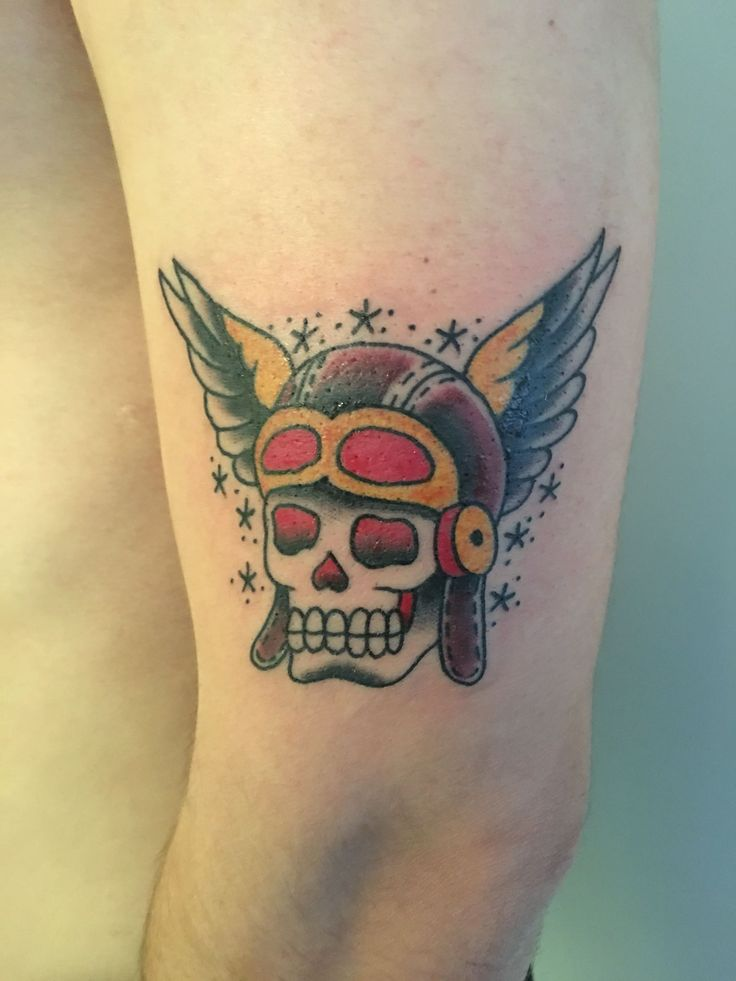 traditional skull done by lowercase j at king cobra