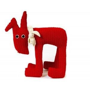 Cuddly toy FLAT DOG (various colours). Designed by Anne-Claire Petit. Available on www.darwinshome.com
