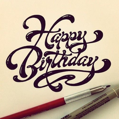 1000 Ideas About Happy Birthday Typography On Pinterest
