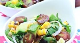 Grilled Corn Salad with Smokey vinaigrette.
