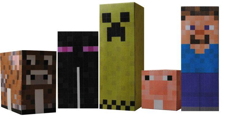 Minecraft traktatie doosjes download je op http://printpret.nl/Minecraft%20feestpakket