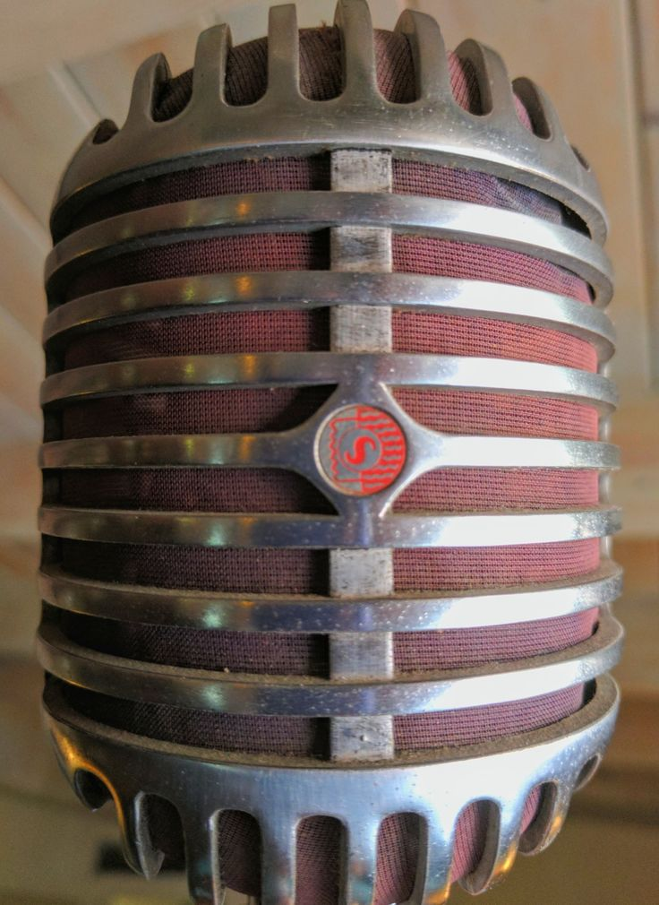 "Shure 55. The iconic ""Elvis"" microphone."