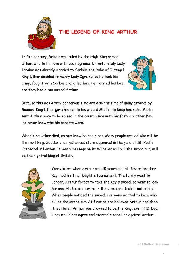 The Legend Of King Arthur King Arthur Legend Of King Legends For Kids