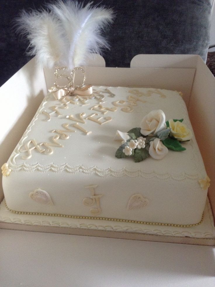 Golden anniversary cake x