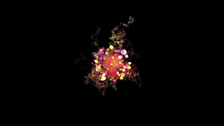 Revisiting brownian motion. This is an audio reactive composition that displays brownian motion trails and emits particles with a stochastic behavior. Music: Kriespiel…