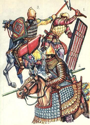 Scythians & Sarmatians 4-5th c. BC Black Sea area warriors.