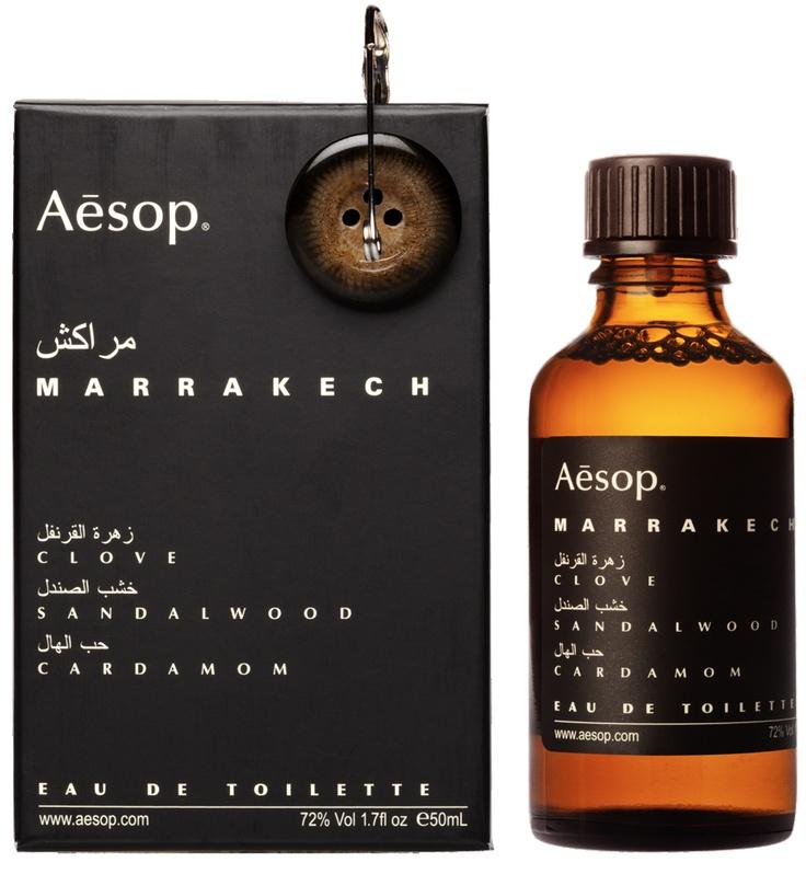 Aesop Marrakech Eau De Toilette: fragrance with Clove, Sandalwood, and Cardamom.