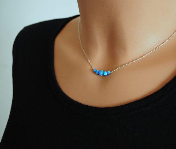 Opal necklace. 5 Opal ball. Fire opal. Opal Jewelry. by Sarradise