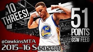 Stephen Curry Full Highlights 2016.02.25 at Magic  AMAZING 51 Pts Sets NBA RECORD GSW Feed!