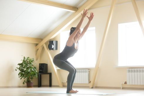 Yoga butt chair pose.    Find more relevant stuff: victoriajohnson.wordpress.com  #YogaVictoria #yoga #yogalife #yogainspiration #yogachallenge #YogaWeightLoss #FitnessVictoria