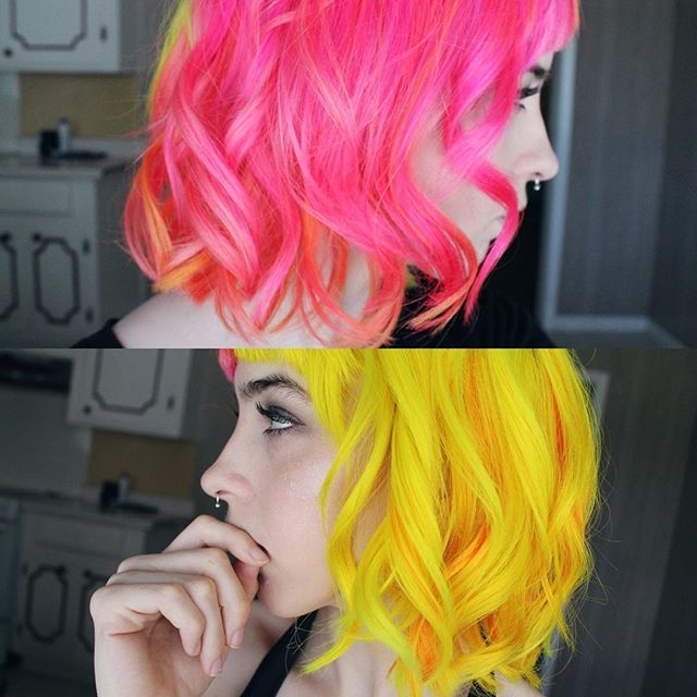 Good Dye Young in Ex-Girl and Steal My Sunshine! I would love to dye the ends of my hair in Ex-Girl (the pink color!)