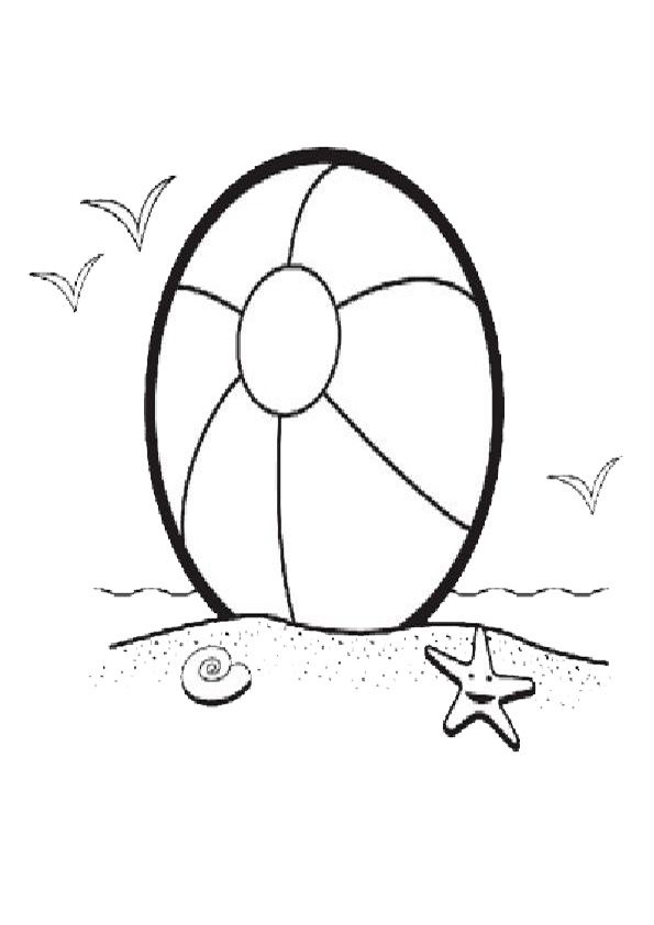 Beach Ball Coloring Pages In 2020 Beach Coloring Pages Coloring Pages Coloring Sheets
