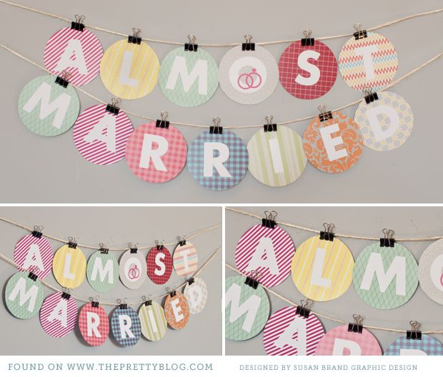 Bridal Shower bunting + competition