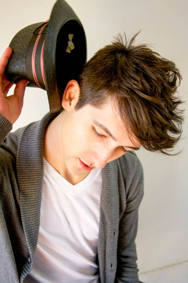 mens cut short sides long on top My photos My hair Pinterest