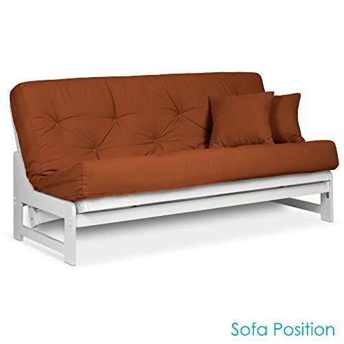 The Armless Arden Futon frame is your solution to smaller spaces in search of a sofa bed sleeper. Simple in design, its uncluttered lines is the perfect foundation for your decorating needs. It is a great design for taller guests who can avoid bumping into the armrests at night so that they can... more details available at https://furniture.bestselleroutlets.com/living-room-furniture/futons/futon-frames/product-review-for-arden-armless-white-wood-futon-frame-full-or-queen-siz