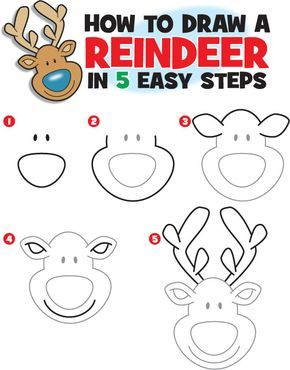 how to draw a realistic reindeer