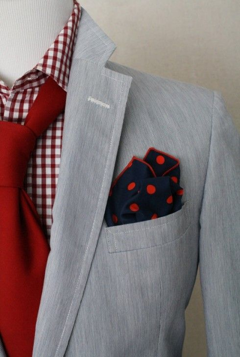 Red Gingham Mens Shirt