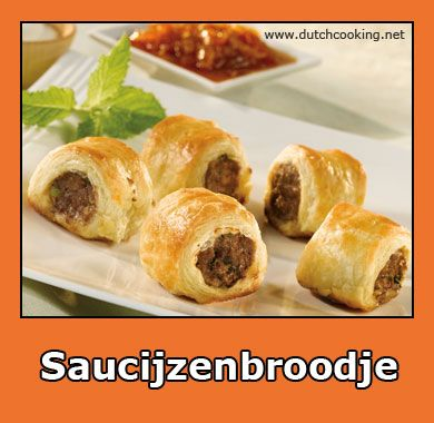 Saucijzenbroodje - Dutch sausage roll Pig in a blanket Made from scratch not with sausages