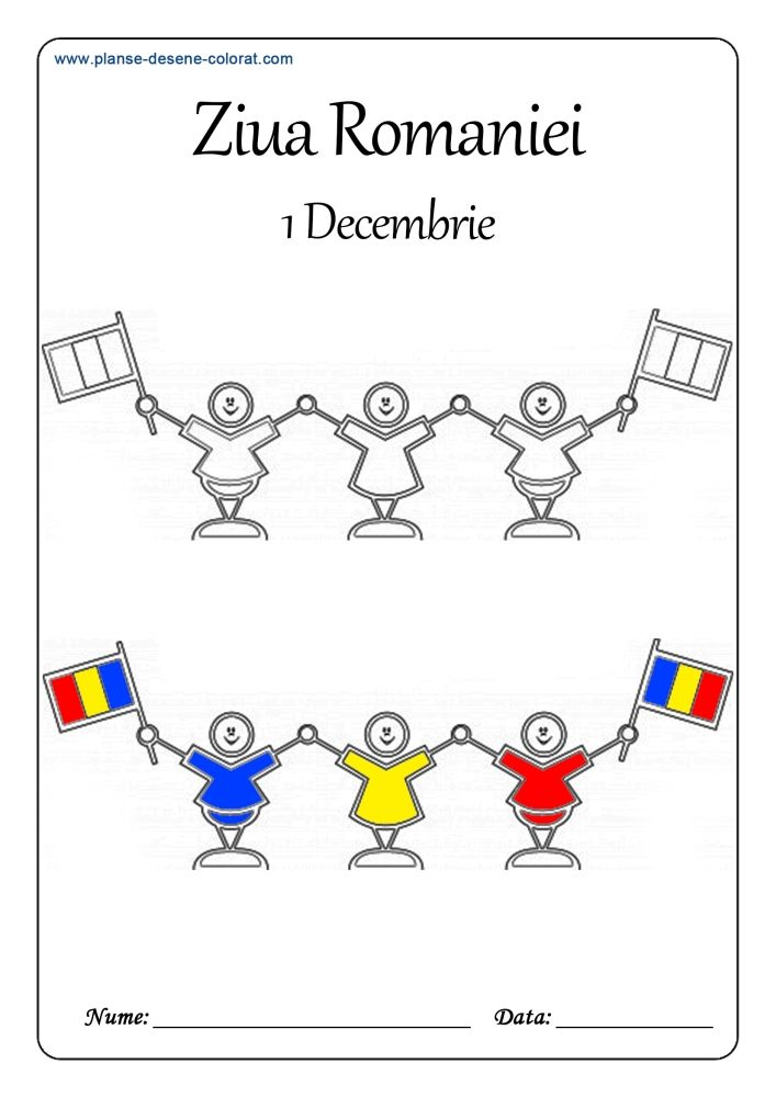 desene de colorat de ziua romaniei unire