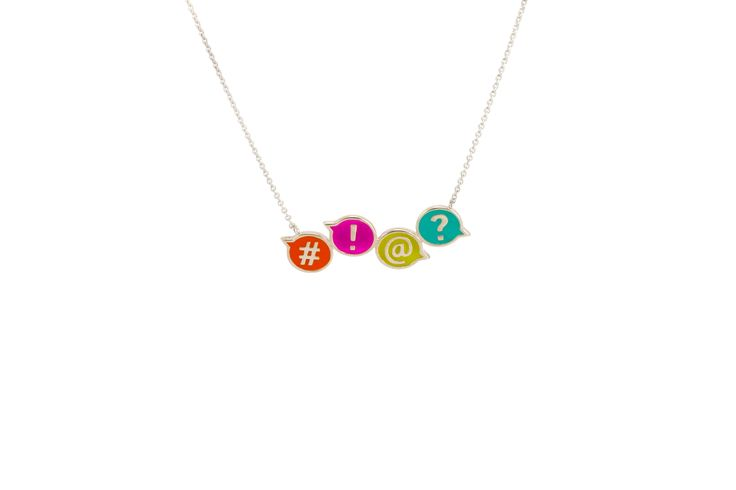 Fun & colourful in sterling silver from the new ChitChat collection by Laura Gravestock