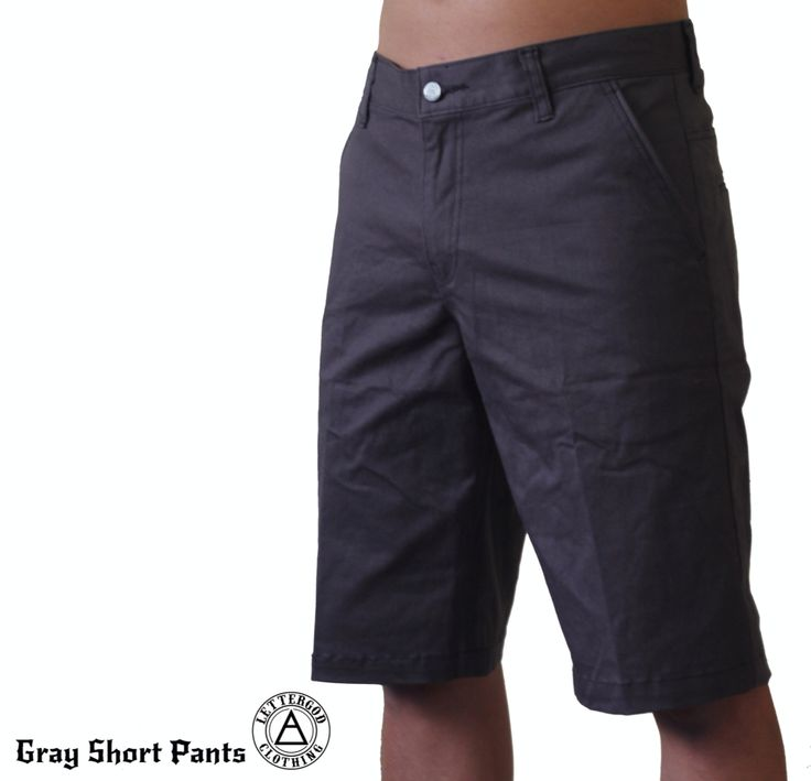 Lettergod Gray Short Pants  #lettergod #lettergodcloth #pants #clothing #streetwear #chino