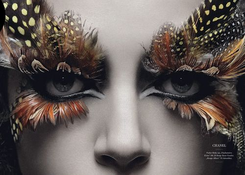 feathers feathers feathers! #feathers #makeup #eyeliner #eyes