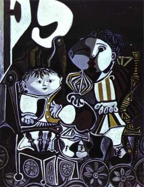Picasso Paloma and Claude, 1950