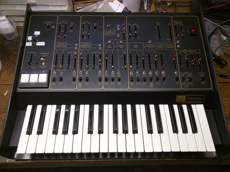 The ARP Odyssey. Moded for patchability (a-la the ARP 2600). PPC, single-trigger and free-run LFO mods by Bob Yannes (of Ensoniq fame).