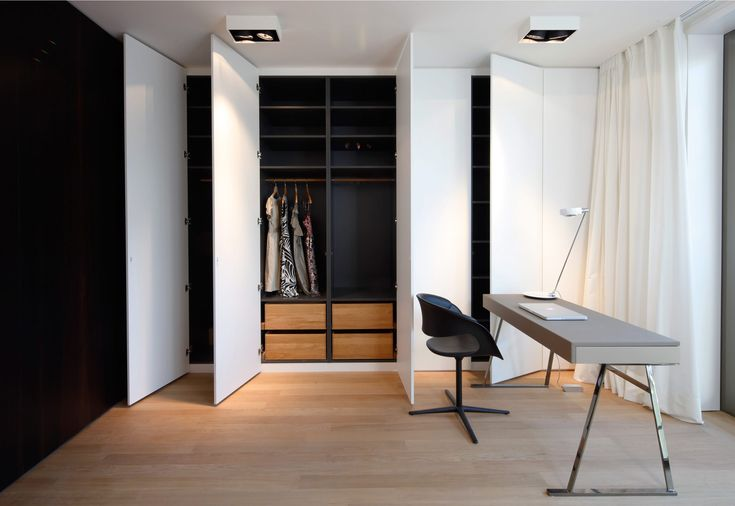 Dark with wood interior - looks chic, less tacky than all white inside!