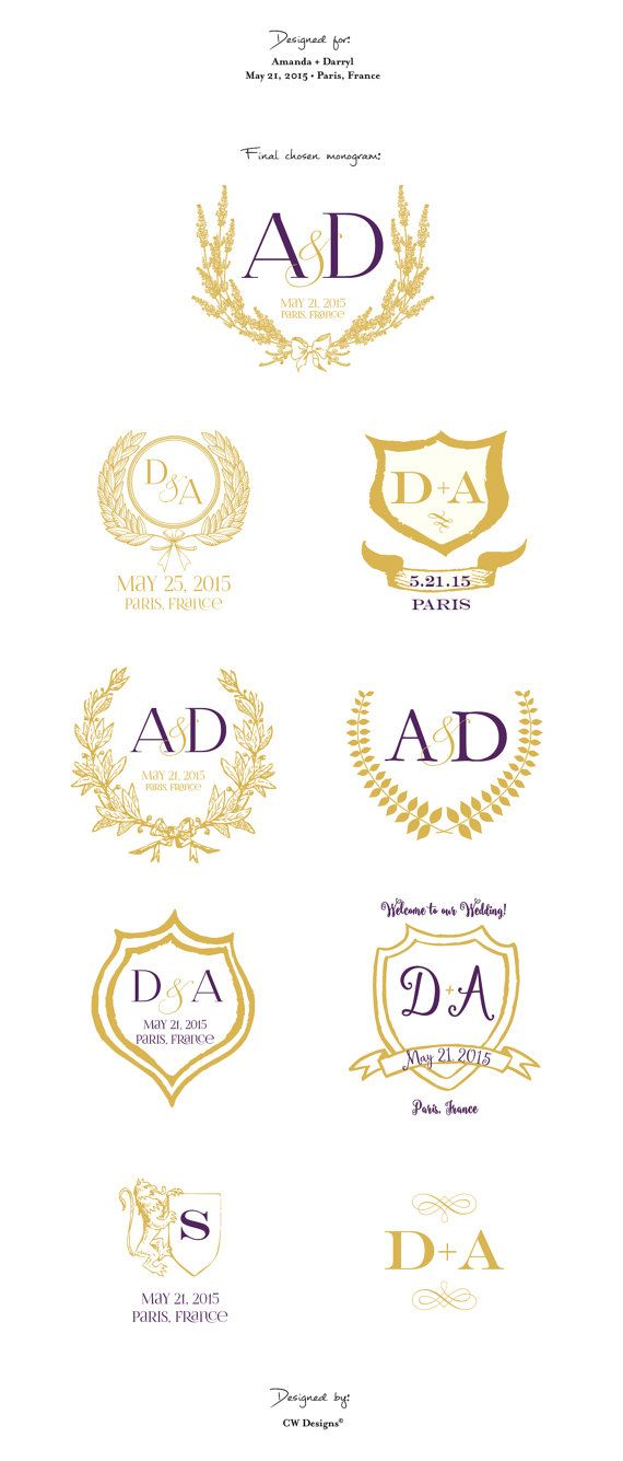 gold shoes for prom cheap Custom Crest Monogram Wedding logo Wedding by cwdesigns2010