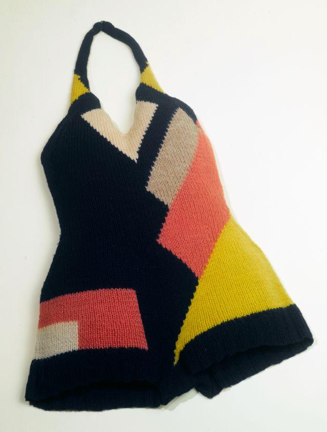 Sonia Delaunay, Bathing suit, France, ca. 1928 Knitted wool, Musée de la Mode de la Ville de Paris, Musée Galliera
