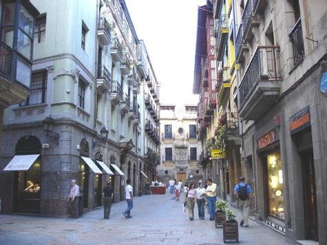 Casco Viejo in Bilbao  Basque Country