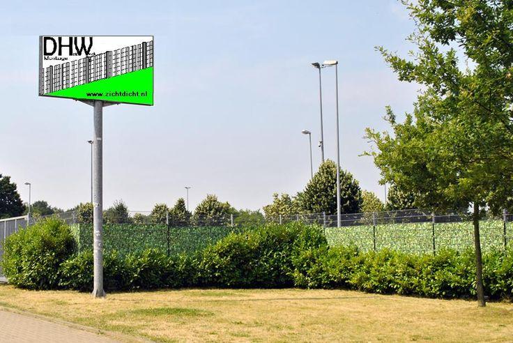 TOP: DHW ZichtDicht Montage omringt door ZichtDicht hekwerklamellen. Geen inkijk!