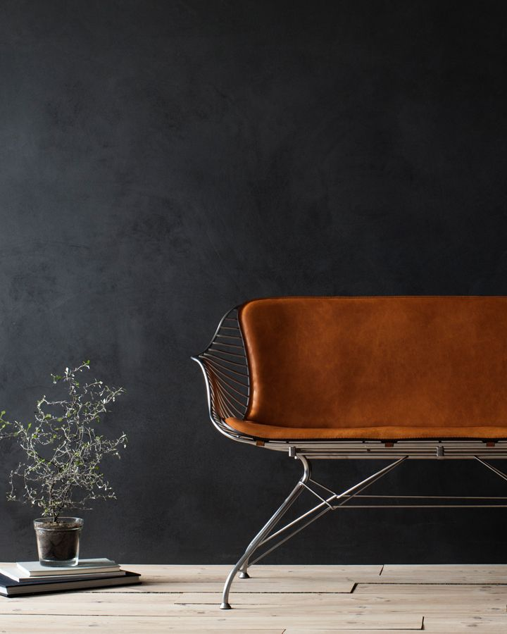 Overgaard & Dyrman is a contemporary design brand and furniture maker located in Denmark.  Satin chrome finish / Yellowstone whiskey leather