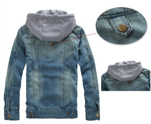 Denim Removable Hooded Jean Jacket. Removable Hooded Denim Jean Jacket is one of our best seller. Huge discounts on this Jean Jacket. Buy Direct and save $30! No Code Require! Material : Denim Color :