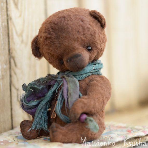 Bogdanchik Artst Teddy Bear OOAK by Oksytoys on Etsy