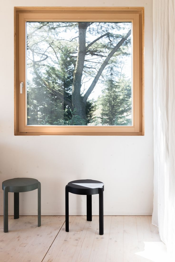 The three-legged Add Stool, €285, is by Steffen Kehrle, one of a small ensemble of young European furniture designers that Stattmann collaborates with.