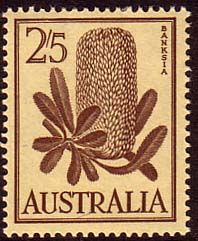 Australia 1959 SG 325 Flowers Banksia Fine Mint SG 325 Scott 329 Other Australian Stamps HERE