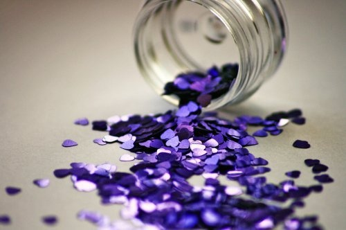 purple glitter <3
