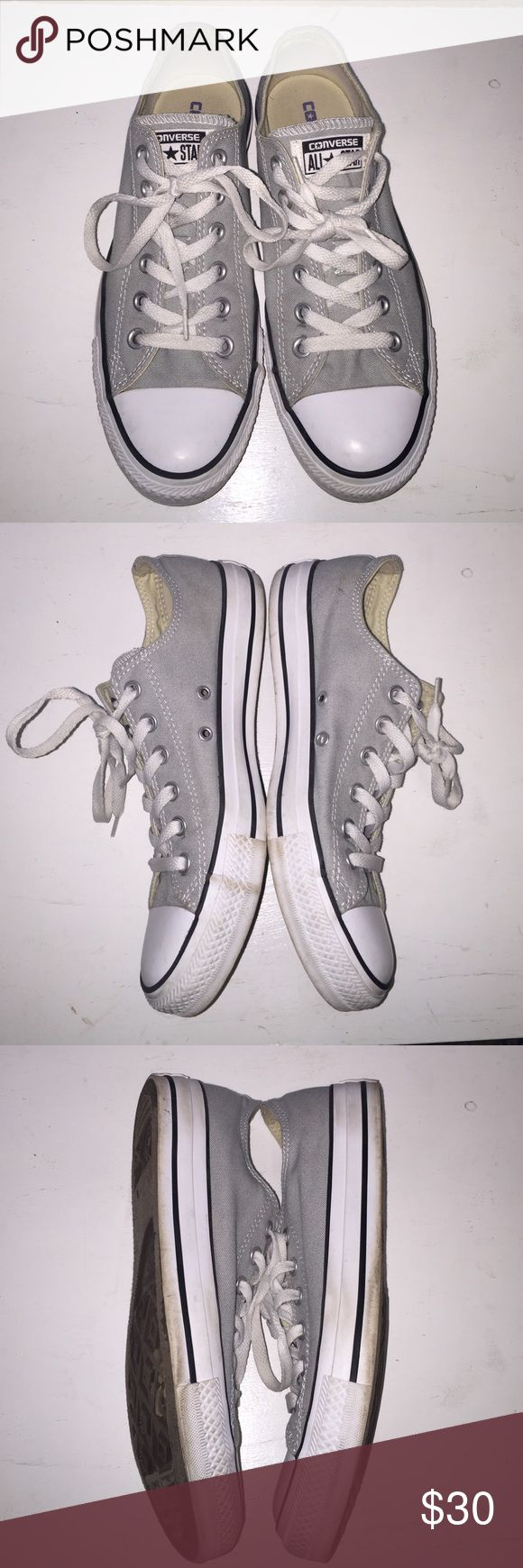 Light Gray Converse Selling these gray converse, used but still have some life to them. Feel free to ask any questions Converse Shoes
